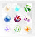 set of abstract spheres vector image