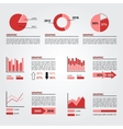 Set of Infographics Elements Red Colors vector image