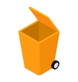 Trash can isometric 3d icon vector image