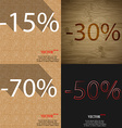 30 70 50 icon Set of percent discount on abstract vector image