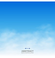 abstract of realistic clouds on blue sky vector image vector image