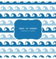 Abstract waves stripes frame seamless pattern vector image