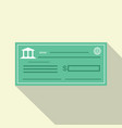 bank check icon flat style vector image