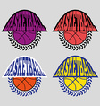 Basketball Badges with Laurel Wreath vector image vector image