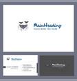 bat logo design with tagline front and back vector image vector image