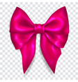 big purple bow vector image vector image