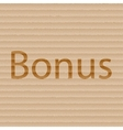 Bonus icon symbol Flat modern web design with long vector image