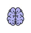 brain mind intelligence human organ flat color vector image