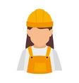 builder construction worker women vector image