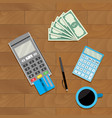 calculate and pay vector image