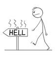 cartoon angry man or businessman walking on vector image vector image