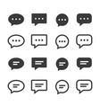 chat speech bubble icons set vector image vector image