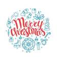 Christmas card with christmas elements Perfect vector image