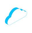 cloud storage icon isometric vector image