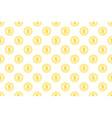 coin dollar seamless pattern money pattern vector image