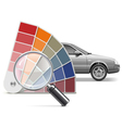Color Choice for Car vector image vector image