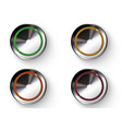 colored buttons with metallic borders vector image