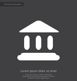 court law premium icon white on dark background vector image vector image