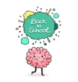 Cute cartoon brain Back to school background vector image vector image