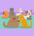 dogs or puppies cartoon characters group vector image vector image