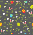 easter background seamless pattern vector image