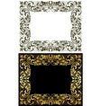 elegance frame in floral style vector image vector image