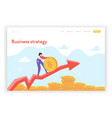 financial growth strategy landing page template vector image vector image