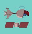 flat icon on stylish background military vector image vector image