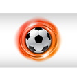 football abstract circle on white orange vector image vector image