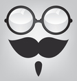 Funny mask retro sunglasses and mustache vector image vector image