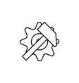 gear icon factory gear vector image vector image