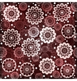 Geometric seamless floral pattern vector image vector image