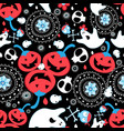 greeting seamless halloween pattern with vector image