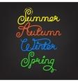 Handwritten seasons of the year vector image