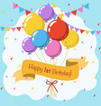 happy 1st birthday colorful greeting card