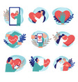 healthcare and control telemedicine online vector image