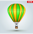 hot air color balloon vector image