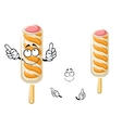 Ice cream stick cartoon character vector image