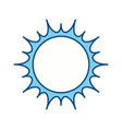 isolated big sun vector image vector image
