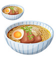 japanese ramen soup cartoon icon isolated vector image vector image