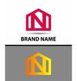 Letter N logo real estate symbol vector image vector image