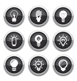 light bulb buttons vector image vector image