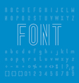 Line Font family Design and Alphabet and numbers vector image