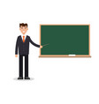 man male teacher on lesson at blackboard vector image vector image