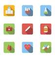 Medicine icons set flat style vector image