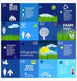 Modern blue ecology template design vector image vector image