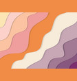 modern colorful 3d wavy banner paper cut out vector image vector image