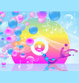 multicolored vinyl record abstract background vector image