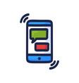 online chat concept talk application logo mobile vector image vector image