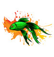 orange goldfish with bobbles air vector image vector image